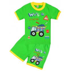 """20-20102 """"Work"""", костюм для мальчика, 1-4 года, салатовый"""