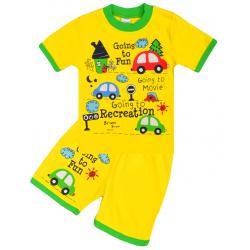 20-011018 Костюм для мальчика, 1-4 года, желтый