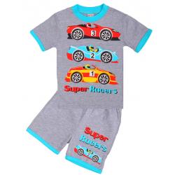 """20-20109 """"Гонки"""", костюм для мальчика, 1-4 года, серый"""