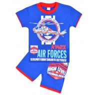 """20-202109-5 """"Air Forces"""" Костюм для мальчика, 4-8 лет, синий"""