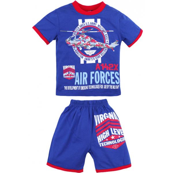 """20-202109 """"Air Forces"""" Костюм для мальчика, 4-8 лет, голубой"""