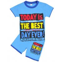 """20-202101 """"Today"""" Костюм для мальчика, 4-8 лет, голубой"""