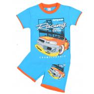 """20-202104-5 """"Racing"""" Костюм для мальчика, 4-8 лет, голубой"""
