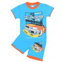 """20-202104 """"Racing"""" Костюм для мальчика, 4-8 лет, голубой"""