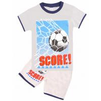 """20-202105 """"Score!"""" Костюм для мальчика, 4-8 лет, серый"""