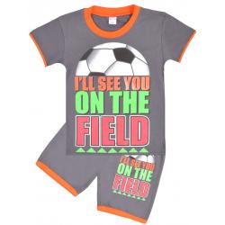 "20-202108 ""Field"" Костюм для мальчика, 4-8 лет, т-серый"