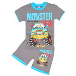 "20-202110 ""Monster"", костюм для мальчика, 4-8 лет, серый"