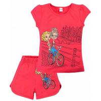 """20-202205 """"Велопрогулка"""" Костюм для девочки, 4-8 лет, розовый"""