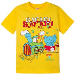 """20-0119 """"Сафари"""" Футболка для мальчика, 1-4 года, желтый"""