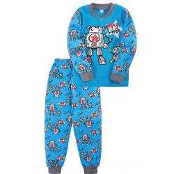 """20-30034 """"Робот"""" Пижама для мальчика, 2-5 лет, голубой"""