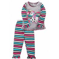 """20-30056 """"Пони"""" Пижама для девочки, 2-5 лет, серый"""