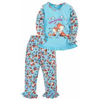 """20-30055 """"Лисята"""" Пижама для девочки, 2-5 лет, голубой"""