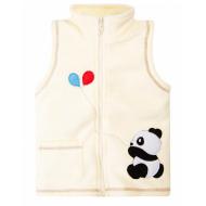 """20-32102 """"Панда"""" Жилет флисовый, 1-4 года, молочный"""