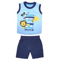 20-33404 Комплект для мальчика, 68-88, голубой\синий