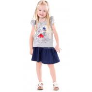 20-33601 Комплект для девочки, 2-6 лет, меланж\синий