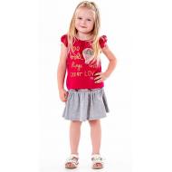 020-33602 Комплект для девочки, 2-6 лет, малиновый\меланж