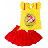 020-33603 Комплект для девочки, 2-6 лет, желтый\красный