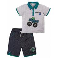"""20-34003 """"CAR"""" Костюм для мальчика, 2-5 лет, меланж\зеленый"""