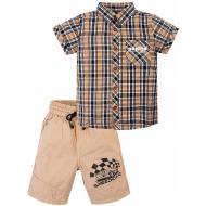 """020-34201 """"Speedcar"""" Костюм для мальчика, 2-5 лет, бежевый"""