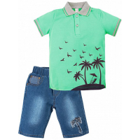"20-34303 ""Sammer"" Костюм для мальчика, 2-5 лет, зеленый"