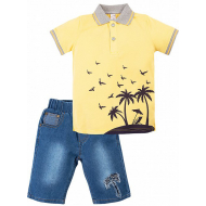 "20-34304 ""Sammer"" Костюм для мальчика, 2-5 лет, желтый"