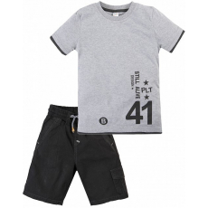 020-34404 Костюм для мальчика, 2-5 лет, серый меланж