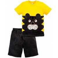 "20-35101 ""Funny"" Костюм для мальчика, 1-4 года, желтый\антрамеланж"