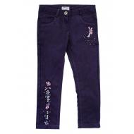 20-4021 Брюки джинсовые для девочки, 5-8 лет, темно-фиолетовый