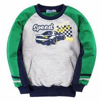 20-49001 Толстовка для мальчика, 2-6 лет, зеленый.серый