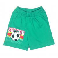 """20-500109 """"Soccer"""" Шорты для мальчиков, 80-104, изумрудный"""