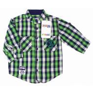 20-5653R Рубашка в клетку для мальчика, поплин, 2-6 лет, зеленый