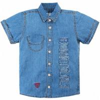 20-63701 Рубашка для мальчика джинсовая, 7-11 лет