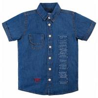 20-63702 Рубашка для мальчика джинсовая, 7-11 лет