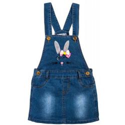 """20-7763 """"Bunny"""" Сарафан для девочки, 3-7 лет, джинс"""