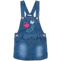 """20-7762 """"Butterflies"""" Сарафан для девочки, 3-7 лет, джинс"""