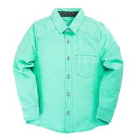 """20-83502C Рубашка для мальчика под """"джинсу"""", 6-10 лет, ментоловый"""