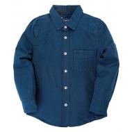 """20-83503C Рубашка для мальчика под """"джинсу"""", 6-10 лет, т.синий"""