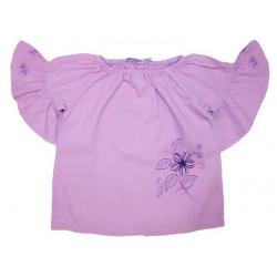 20-84403 Блузка сатиновая для девочки, 3-7 лет, сиреневый