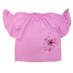 20-84404 Блузка сатиновая для девочки, 3-7 лет, розовый