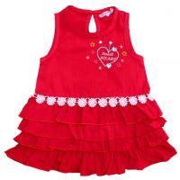 20-84501 Платье для девочки, 2-5 лет, красный