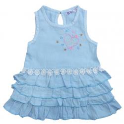 20-84504 Платье для девочки, 2-5 лет, голубой