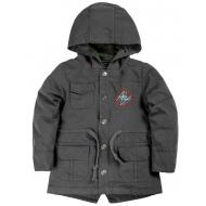 020-84601 Куртка-парка для мальчика, 1-4 года, т.серый