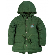 020-84603 Куртка-парка для мальчика, 1-4 года, хаки
