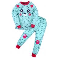 20-97601 Пижама для девочки, 3-7 лет, ментоловый