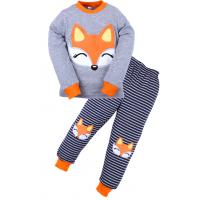 20-97602 Пижама для девочки, 3-7 лет, серый