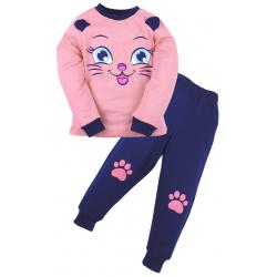 20-97603 Пижама для девочки, 3-7 лет, розовый