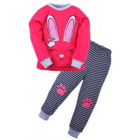 20-97604 Пижама для девочки, 3-7 лет, малиновый