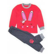 020-97604 Пижама для девочки, 3-7 лет, малиновый