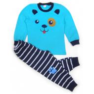 """020-97703 """"Панда"""" Пижама для мальчика, 3-7 лет, голубой"""