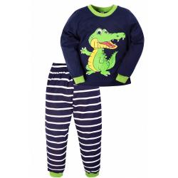 """20-97704 """"Крокодил"""" Пижама для мальчика, 3-7 лет, т-синий"""